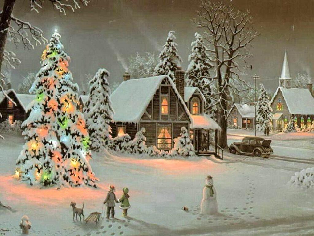 Shh Christmas Santa Scene